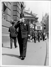 Police on a patrol round on the streets of London.