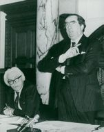Michael Foot and Denis Healey