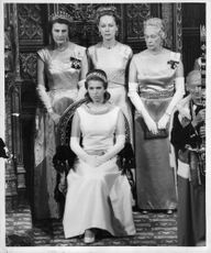Princess Anne attending State opening of Parliament 1967.