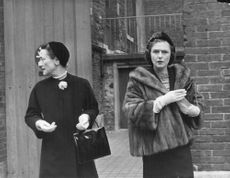 Wallis, Duchess of Windsor with another woman.