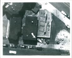 An enlargement of a portion of an aerial.