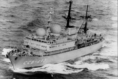 The Soviet Union's secret spy ship CCB-493 has been intercepted by NATO on the North Sea