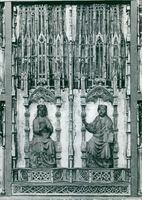 Middle part of the medieval altar cabinet in Lund Cathedral
