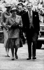 Queen Elizabeth arrives at the church together with Angus Ogilvy