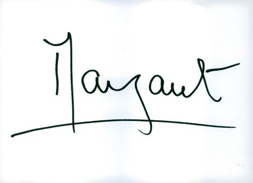 The signature of Her Royal Highness Princess Margaret.