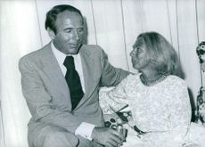 Prince Sadruddin Aga Khan with his Greek born wife Catherine whom he married in 1972, they are in a special moment