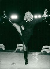 Ginger Rogers performs at London Palladium