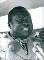 President Amin delivering his speech. 1978.