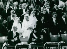Princess Maria Gabriella in a ceremony.