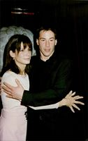 "Actors Sandra Bullock and Keanu Reeves at the premiere of the movie ""Speed"""