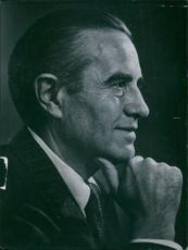 Side view portrait of Special Assistant to President Truman William Averell Harriman an American Democratic politician, businessman, and diplomat.