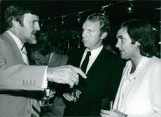 Jimmy Hill, Bobby Moore and George Best in footballer's convention.