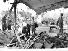 High officials checked out the destroyed building in Israel.