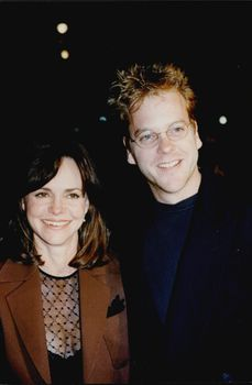 "The actors Sally Field and Kiefer Sutherland attend the ""Eye-to-Eye"" premiere at Hollywood's Paramount Theater"