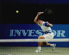 Henrik Holm in action during Stockholm Open 1995