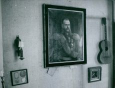 A painting of king fixed on the wall.