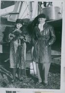 Princess Love Stein Wartheim and Captain Hamilton at the first female flight over the Atlantic