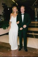 Wojtek Fibak with female friend on the Red Cross gala
