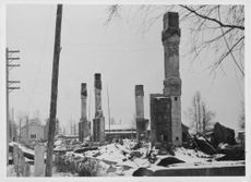 A DESTROYED HALL.1940