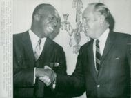 US Ambassador to Sweden Jerome Holland together with State Secretary William P. Rogers.