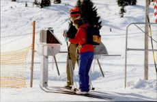 Couple on cross country skiing