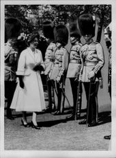 Queen Elizabeth smashes the last in the line of stretched superiors, it was her husband, the duke of Edinburgh