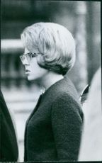 Side view photo of Princess Beatrix of the Netherlands.