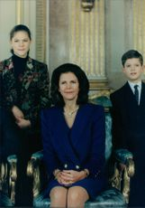 Crown Princess Victoria, Queen Silvia and Prince Carl Philip