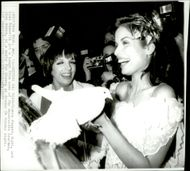 Bianca Jagger together with Liza Minelli