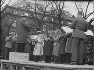 The railway year's music year plays at Kungsträdgården. - 9 May 1944