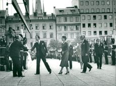 Talman Henry Allard welcomes King Carl XVI Gustaf, Queen Silvia and Prince Bertil before the opening of the Riksdag