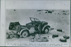 Bits and pieces of the retreat. Rommel lost a big quantity of equipment during his attack on and subsequent withdrawal from our positions south of the El Alamein Front.