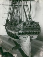 Model of ostindiefarar from the 1700s at the Maritime Museum