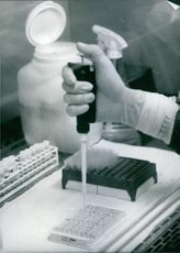 Aids tests at the State Bacteriology Laboratory.