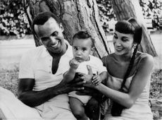 "Harold George ""Harry"" Bellanfanti, Jr. with his wife and kid."