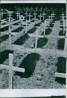 A view of a cemetery.