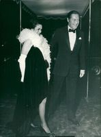 Rex Harrison with wife Rachel Roberts at the premiere of Doctor Dolittle