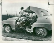 road accidents:the three men died in a collision.