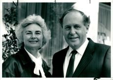 Michael Eaton with his wife.