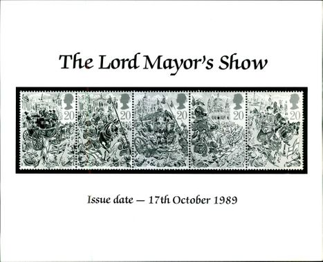 Postage stamp 'The Lord Mayor's Show'