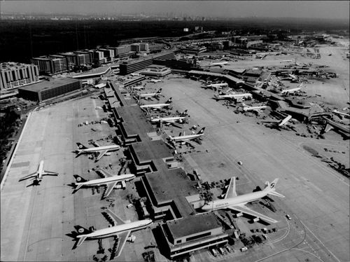 Aerial view of Frankfurt Airport.