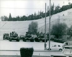 Tanks approaching the city,  May 1967