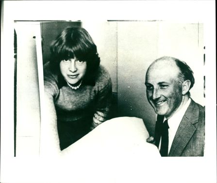 Mrs Jane Lewis with John Wallace.