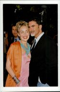 """Sharon Stone along with husband Phil Bronstein at the film premiere of """"Dream Factory"""""""