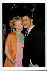 "Sharon Stone along with husband Phil Bronstein at the film premiere of ""Dream Factory"""
