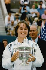 Martina Hingis after the win in the US Open