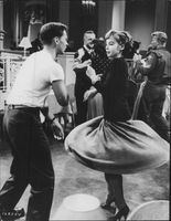 Leslie Caron enjoying dancing.