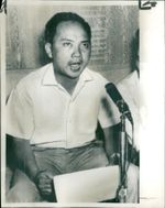 Major Nguyen Van Man in a Press Conference in 1966