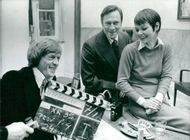 The actors Thomas Hellberg, Christopher Plummer and Carolyn Seymour
