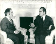 Hussein of Jordan with President Nixon.